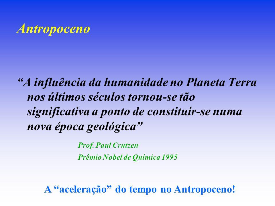 Antropoceno A influência da humanidade no Planeta Terra nos últimos séculos tornou-se tão significativa a ponto de constituir-se numa nova época geoló