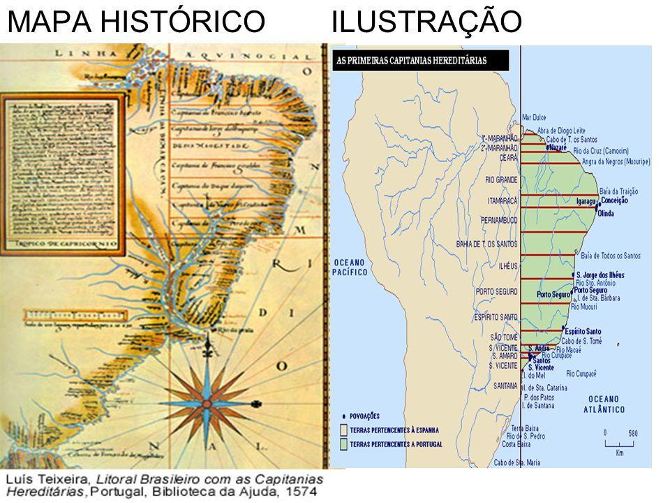 MAPA HISTÓRICO ILUSTRAÇÃO