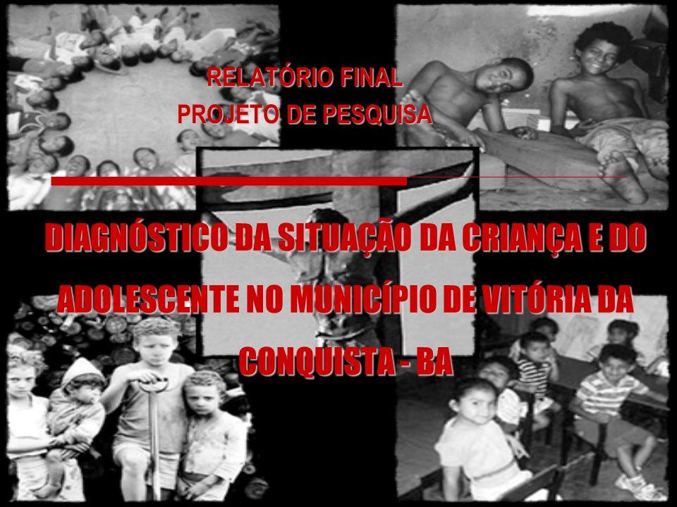 DIAGNÓSTICO DA SITUAÇÃO DA CRIANÇA E DO ADOLESCENTE NO MUNICÍPIO DE VITÓRIA DA CONQUISTA - BA RELATÓRIO FINAL PROJETO DE PESQUISA