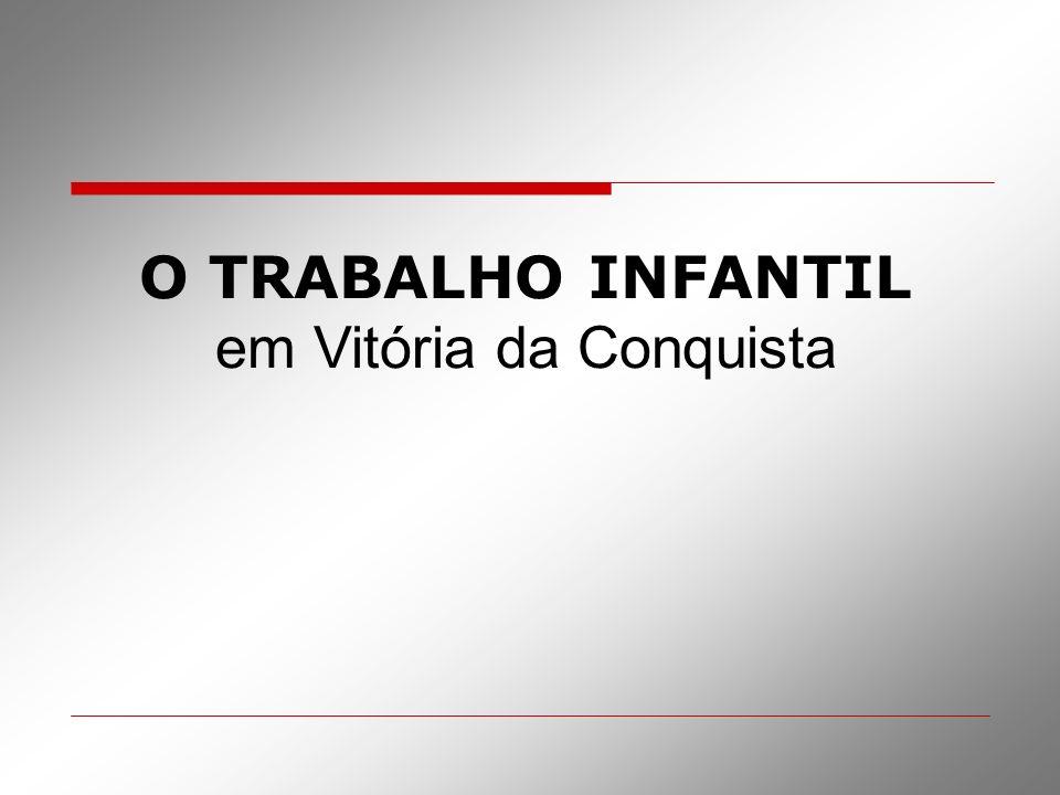 O TRABALHO INFANTIL em Vitória da Conquista