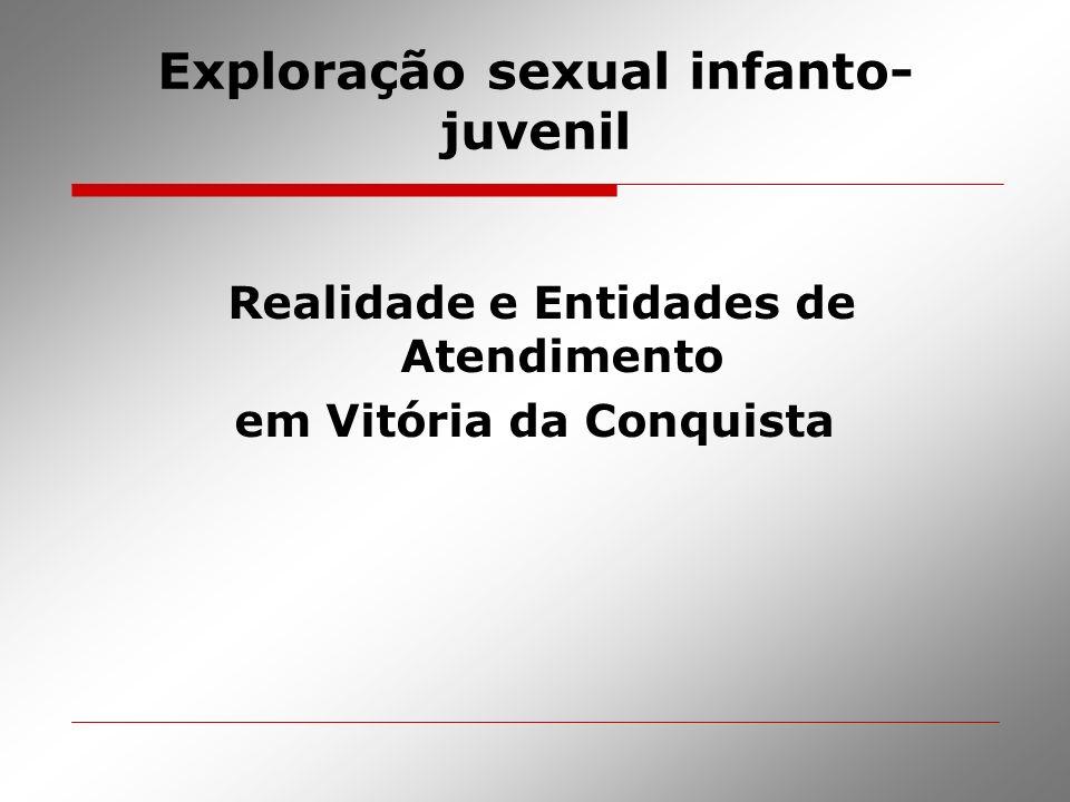 Exploração sexual infanto- juvenil Realidade e Entidades de Atendimento em Vitória da Conquista