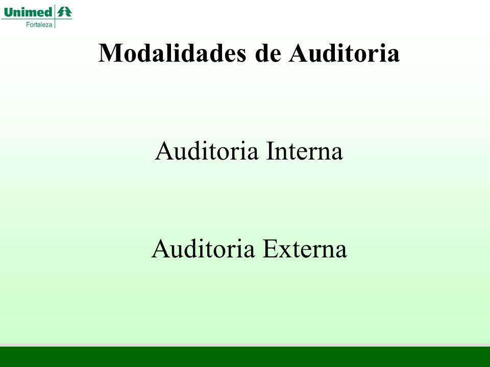 Tipos de Auditoria Regular ou Ordinária Especial ou Extraordinária