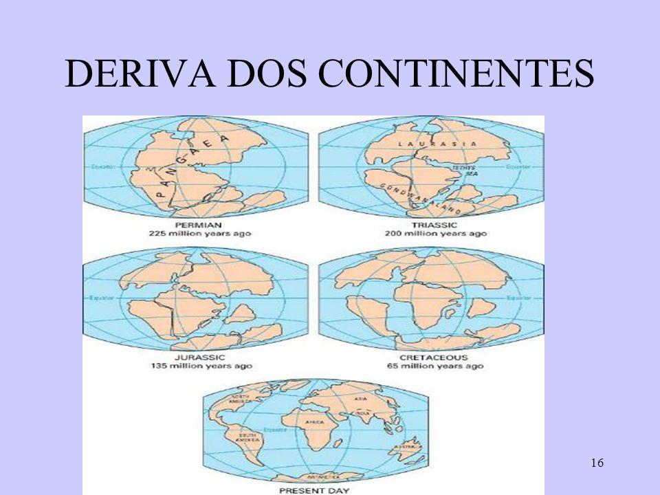 16 DERIVA DOS CONTINENTES