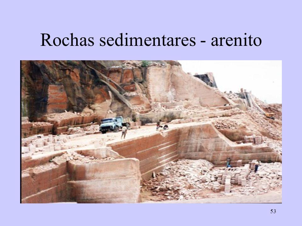 53 Rochas sedimentares - arenito