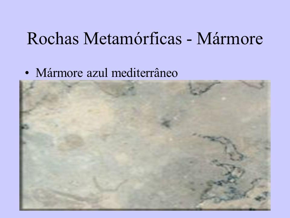 57 Rochas Metamórficas - Mármore Mármore azul mediterrâneo