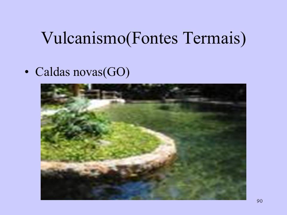 90 Vulcanismo(Fontes Termais) Caldas novas(GO)