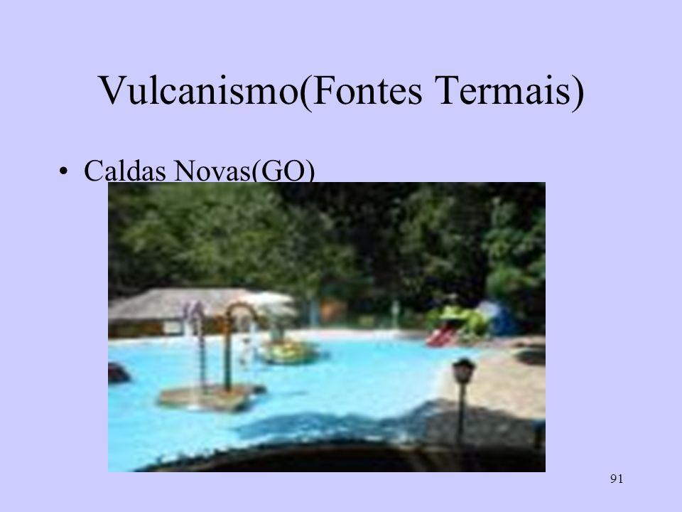 91 Vulcanismo(Fontes Termais) Caldas Novas(GO)