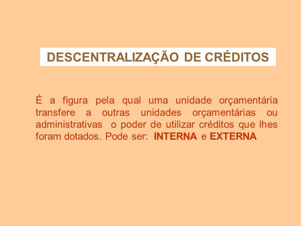 UTILIZAÇÃO DE CRÉDITOS ORÇAMENTÁRIOS Lei 4.320/64 - estatui normas Nesta fase deverão ser observadas as normas pertinentes à execução da despesa públi