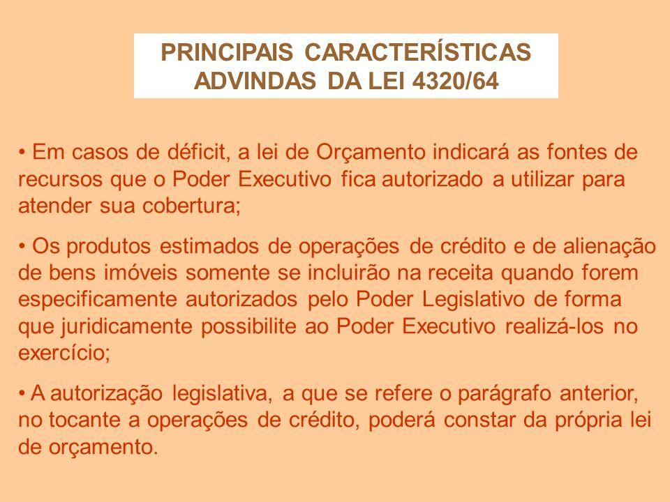 A lei de orçamento poderá conter autorização ao executivo para: a) abrir créditos suplementares até determinada importância; b) realizar, em qualquer
