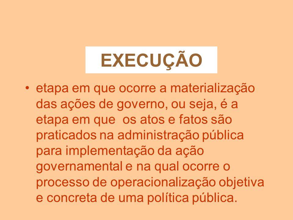 ORÇAMENTAÇÃO O orçamento é o instrumento que contém as ações governamentais, dispostas em metas físicas e financeiras, a serem realizadas em determina