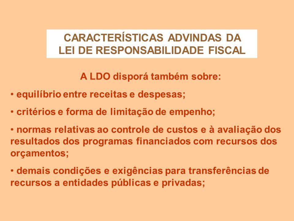 CARACTERÍSTICAS ADVINDAS DA CONSTITUIÇÃO DE 1988 Omissão quanto a procedimento no caso da Proposta Orçamentária do Executivo não ser devolvida para sa