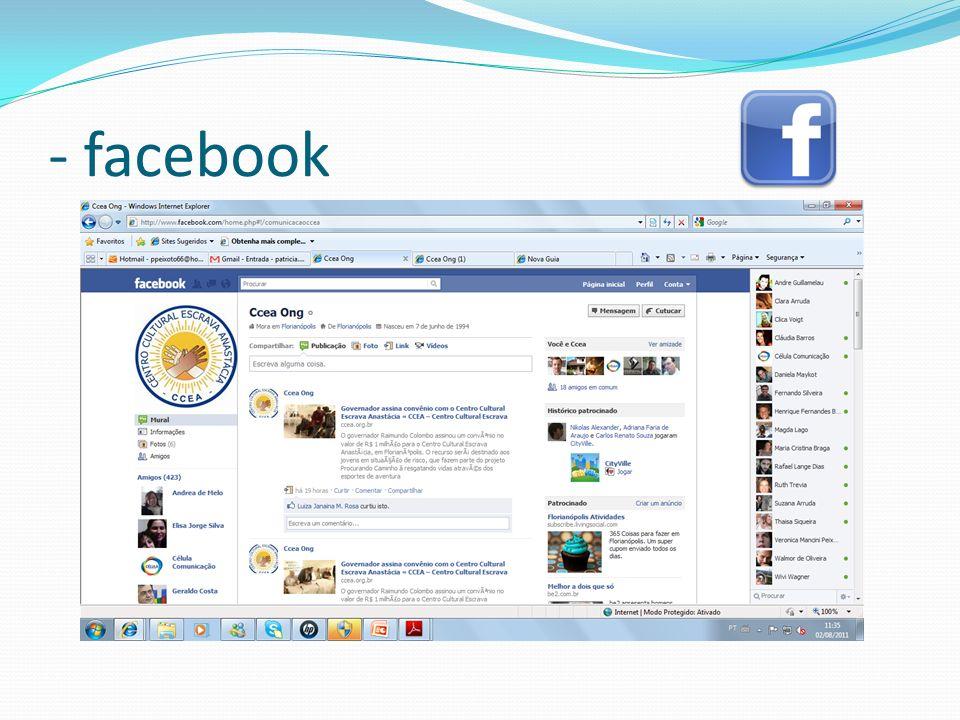 - facebook