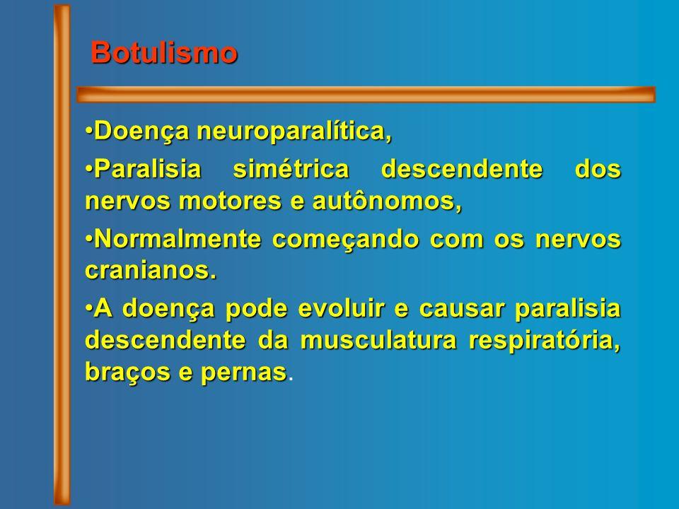 Doença neuroparalítica,Doença neuroparalítica, Paralisia simétrica descendente dos nervos motores e autônomos,Paralisia simétrica descendente dos nerv