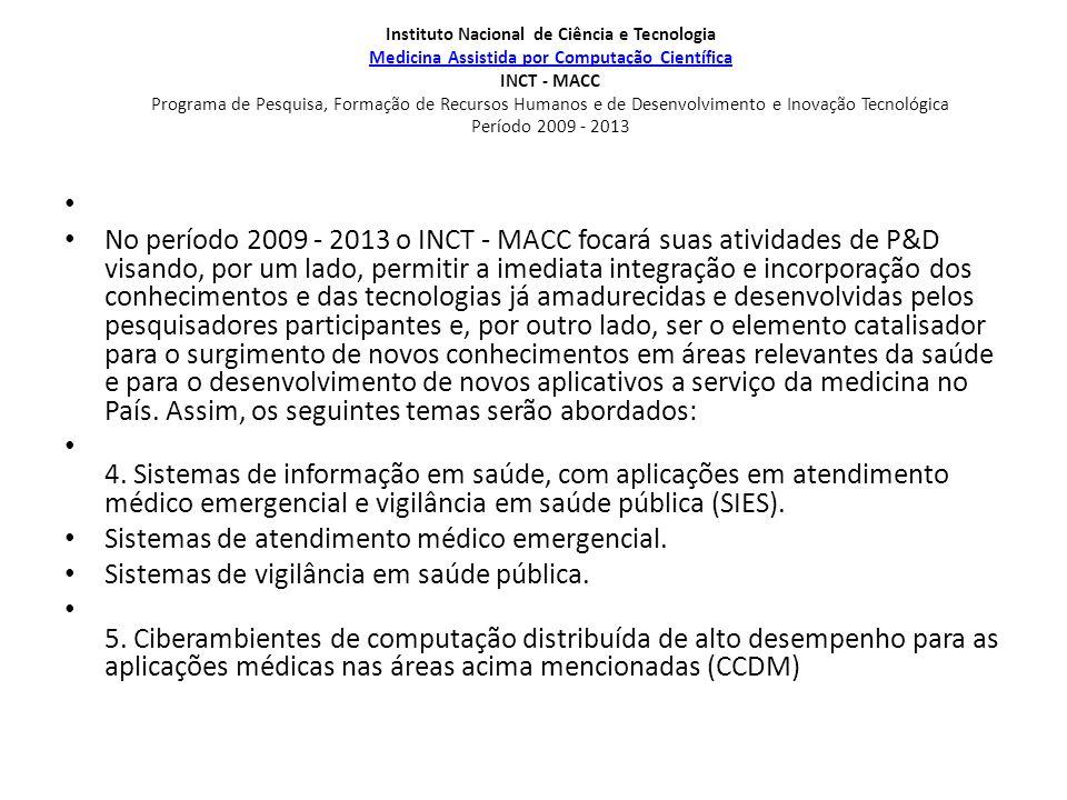 Instituto Nacional de Ciência e Tecnologia Medicina Assistida por Computação Científica INCT - MACC Programa de Pesquisa, Formação de Recursos Humanos
