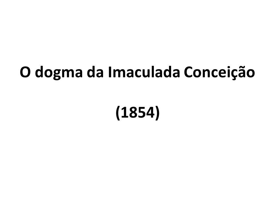 O dogma da Imaculada Conceição (1854)