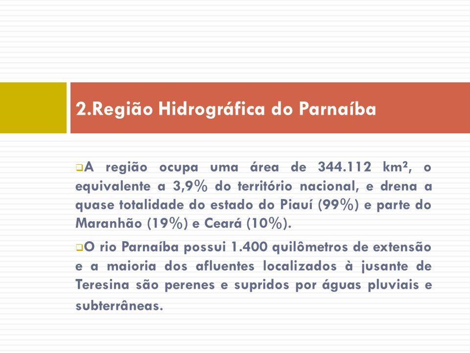 A região ocupa uma área de 344.112 km², o equivalente a 3,9% do território nacional, e drena a quase totalidade do estado do Piauí (99%) e parte do Ma