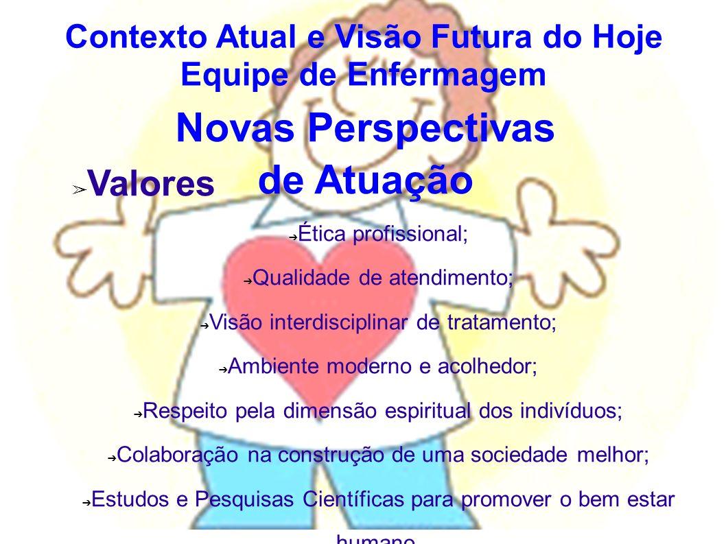 Novas Perspectivas de Atuação Valores Ética profissional; Qualidade de atendimento; Visão interdisciplinar de tratamento; Ambiente moderno e acolhedor