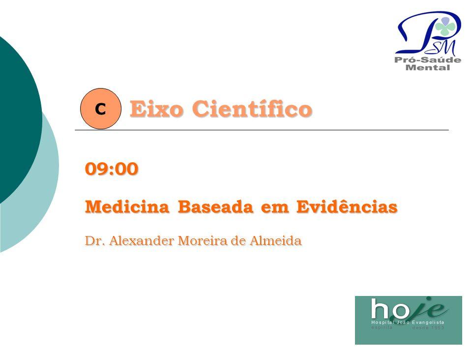 Eixo Científico C09:00 Medicina Baseada em Evidências Dr. Alexander Moreira de Almeida