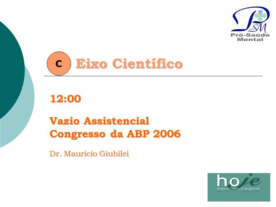 Eixo Científico C12:00 Vazio Assistencial Congresso da ABP 2006 Dr. Maurício Giubilei