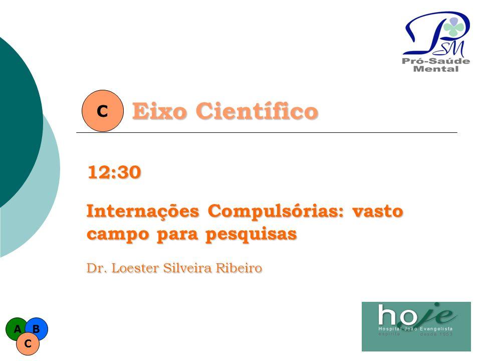 Eixo Científico C12:30 Internações Compulsórias: vasto campo para pesquisas Dr. Loester Silveira Ribeiro AB C