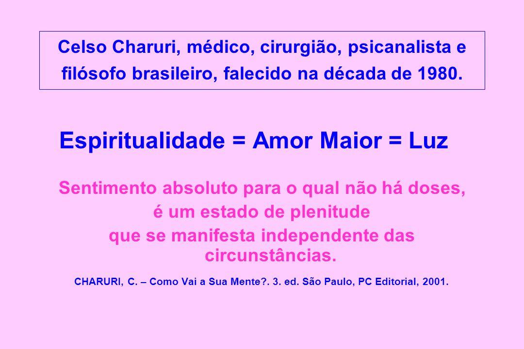 Celso Charuri, médico, cirurgião, psicanalista e filósofo brasileiro, falecido na década de 1980. Espiritualidade = Amor Maior = Luz Sentimento absolu
