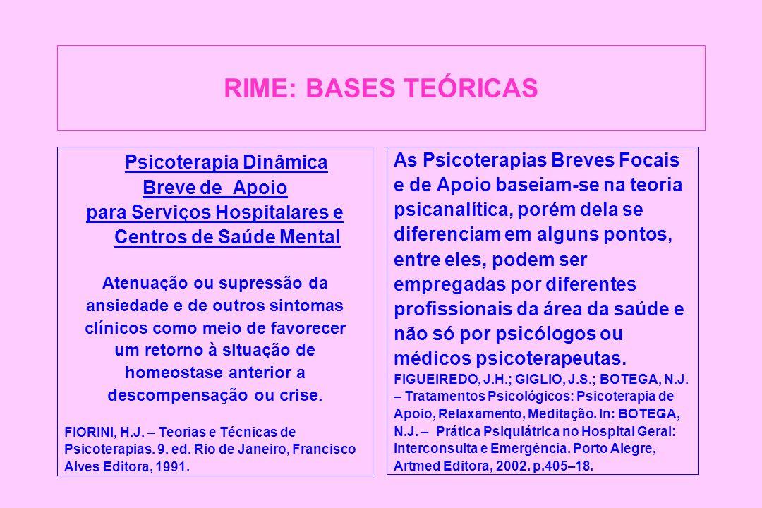 DISCUSSÃO Na análise qualitativa observou-se que os procedimentos da RIME favoreceram a re-significação da Dor Espiritual de forma personalizada, de acordo com a manifestação específica de cada doente.
