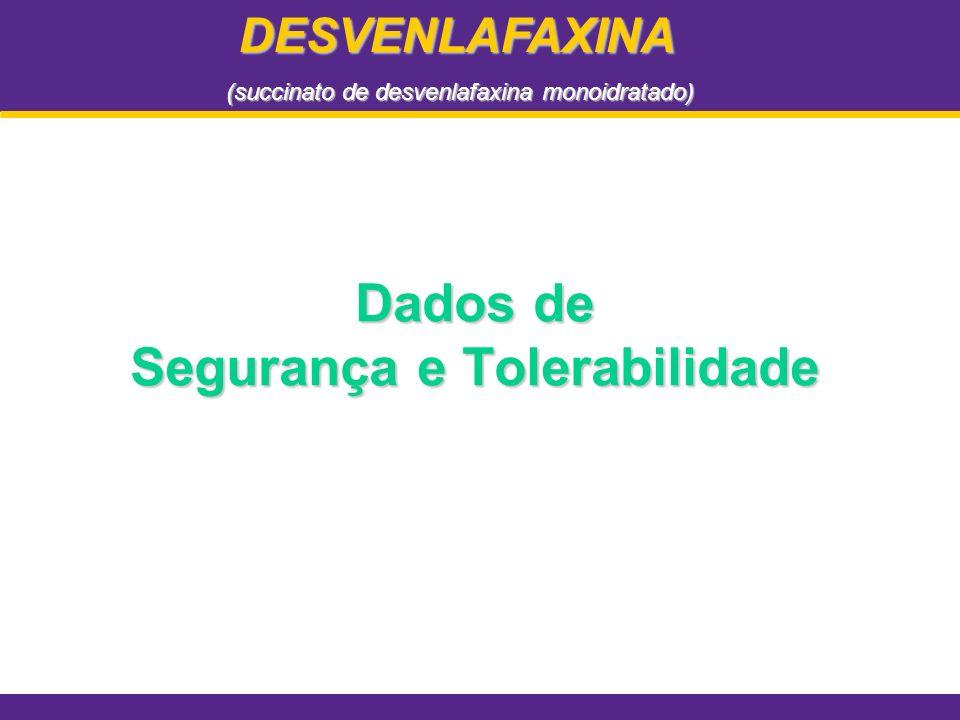 Dados de Segurança e Tolerabilidade DESVENLAFAXINA (succinato de desvenlafaxina monoidratado)