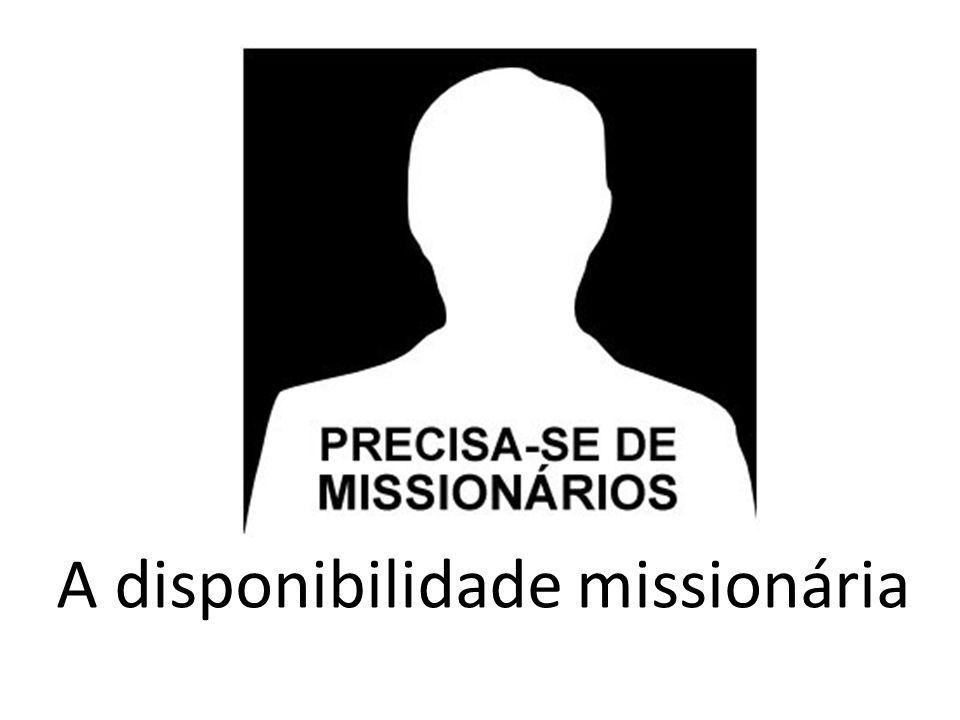 A disponibilidade missionária