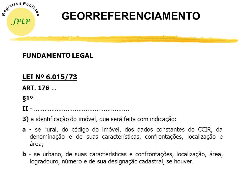 yInstrução Normativa nº 12, de 17/11/2003 (INCRA); yInstrução Normativa nº 13, de 17/11/2003 (INCRA); yInstrução Normativa nº 25, de 28/11/2005 (DOU n