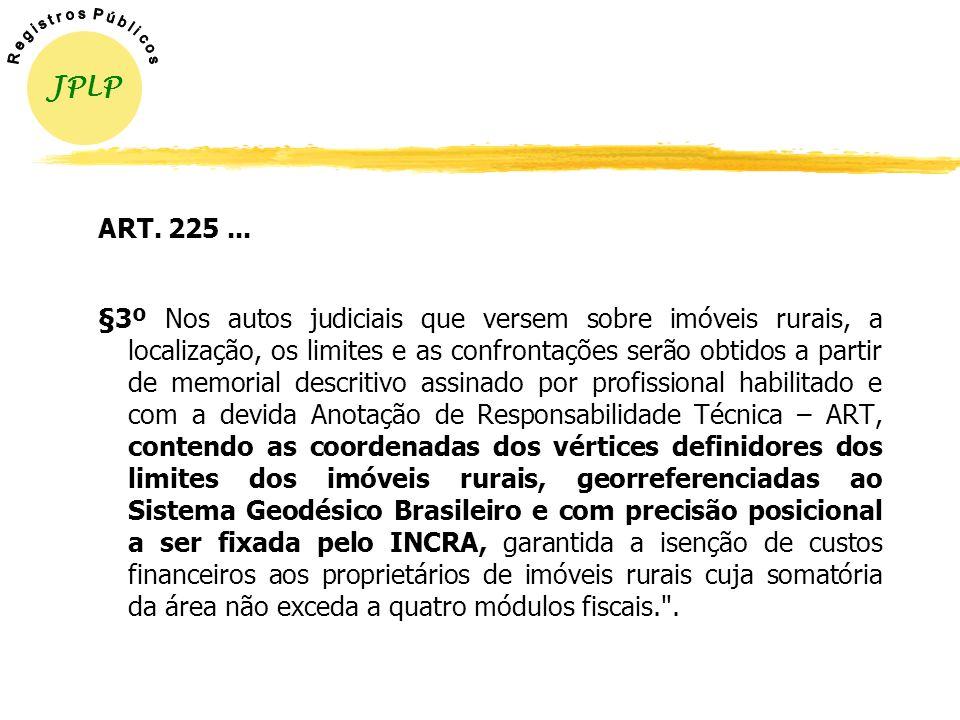 § 3º Nos casos de desmembramento, parcelamento ou remembramento de imóveis rurais, a identificação prevista na alínea a do item 3 do inciso II do § 1