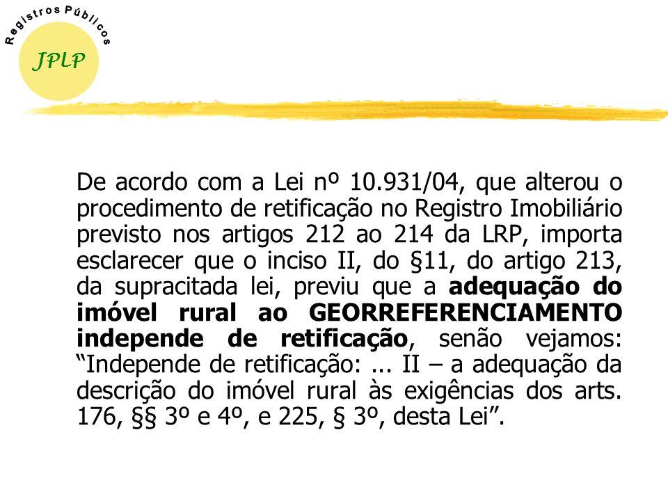 DECRETO Nº 4.449/02 X DECRETO Nº 5.570/05 ANTES X AGORA Limites de Aumento/Diminuição de Área: Havia remissão a legislação não existente (alterado o §
