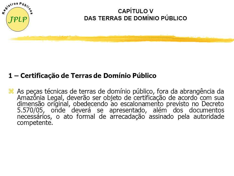 CAPÍTULO IV DOS CONFRONTANTES, ÁREAS ESPECÍFICAS 3 – Imóveis com Reservatórios de Usinas Hidrelétricas O perímetro do imóvel que faz confrontação com
