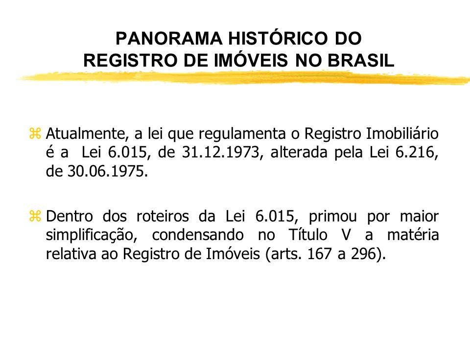 PANORAMA HISTÓRICO DO REGISTRO DE IMÓVEIS NO BRASIL zLei nº 1.237, de 24/9/1864, regulamentada pelo Decreto nº 3.453, de 26/4/1865 - o Registro de Hip