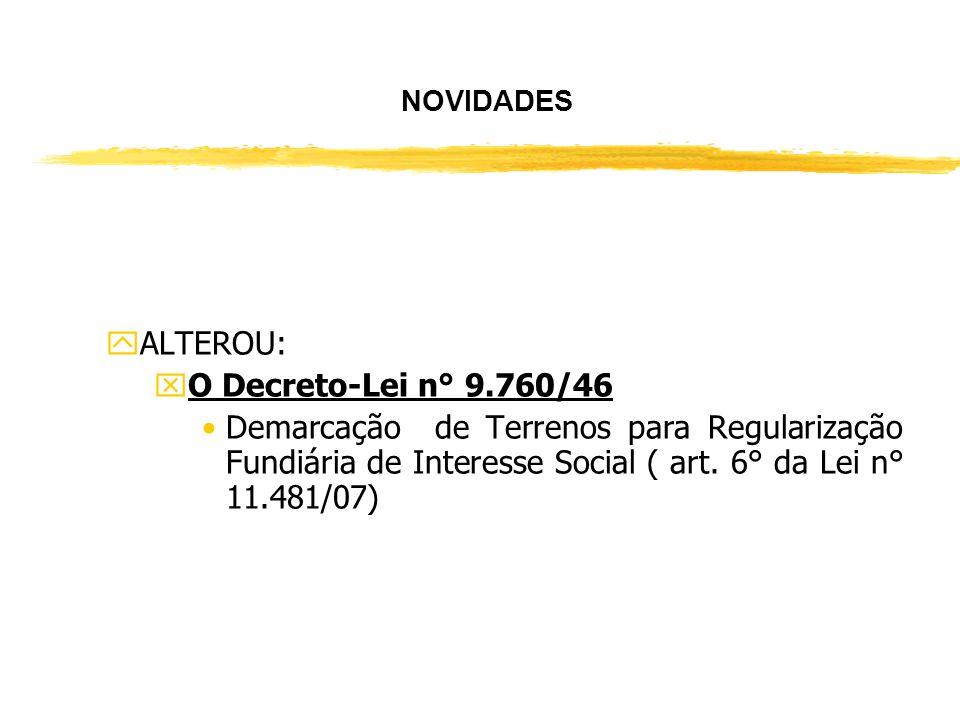 REGULARIZAÇÃO FUNDIÁRIA DE INTERESSE SOCIAL Lei n° 11.481, 31 DE MAIO DE 2007. JPLP