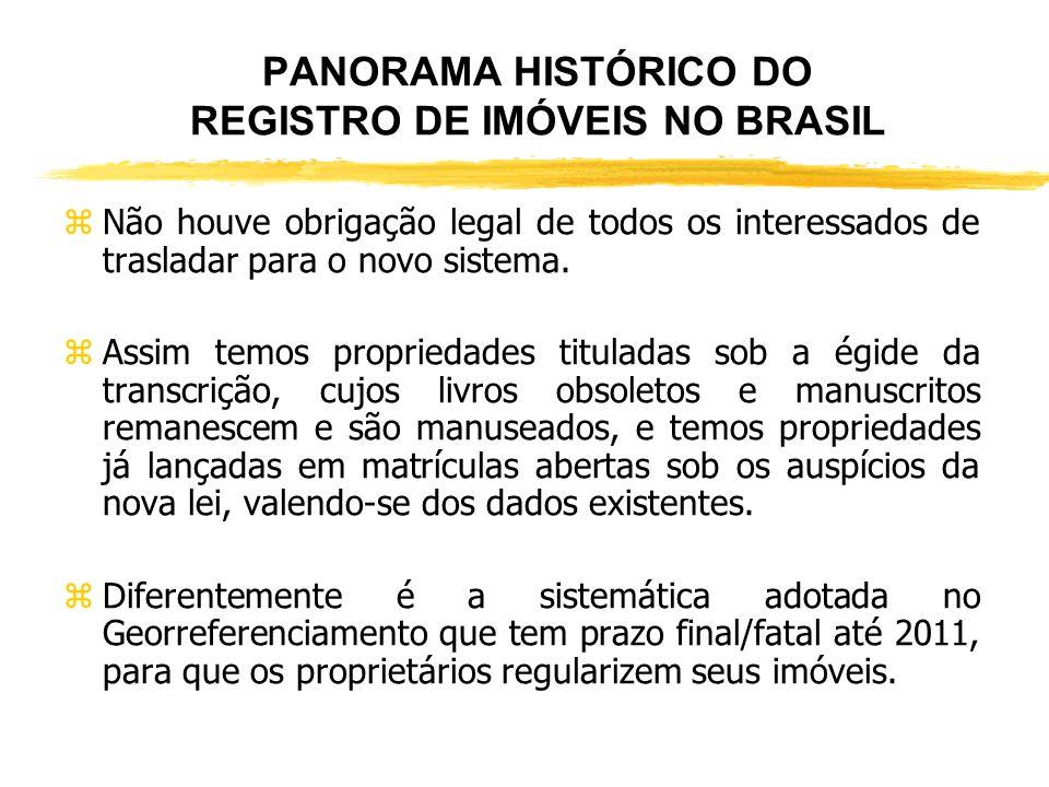 PANORAMA HISTÓRICO DO REGISTRO DE IMÓVEIS NO BRASIL zOutrossim, a matrícula (fólio real), se distingue de outras em países irmãos, porquanto a brasile