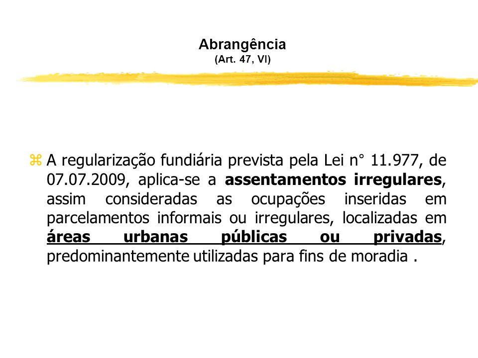 Conceito de Regularização Fundiária (Art. 46 da Lei n° 11.977/2009) zEm poucas palavras: a regularização fundiária é um processo para transformar terr