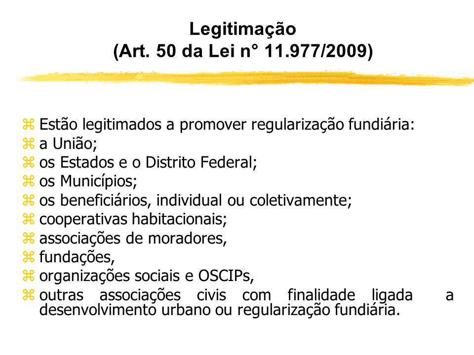 LEGISLAÇÃO MUNICIPAL ESPECÍFICA (Art. 49) zA Lei nº 11.977/2009 autorizou que o Município legisle sobre o procedimento de regularização fundiária em s