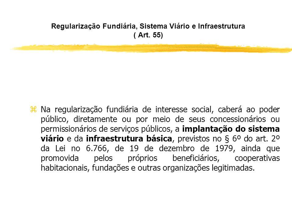 Regularização Fundiária e Áreas de Preservação ( Art. 54, § 1°) zO Município poderá, por decisão motivada, admitir a regularização fundiária de intere