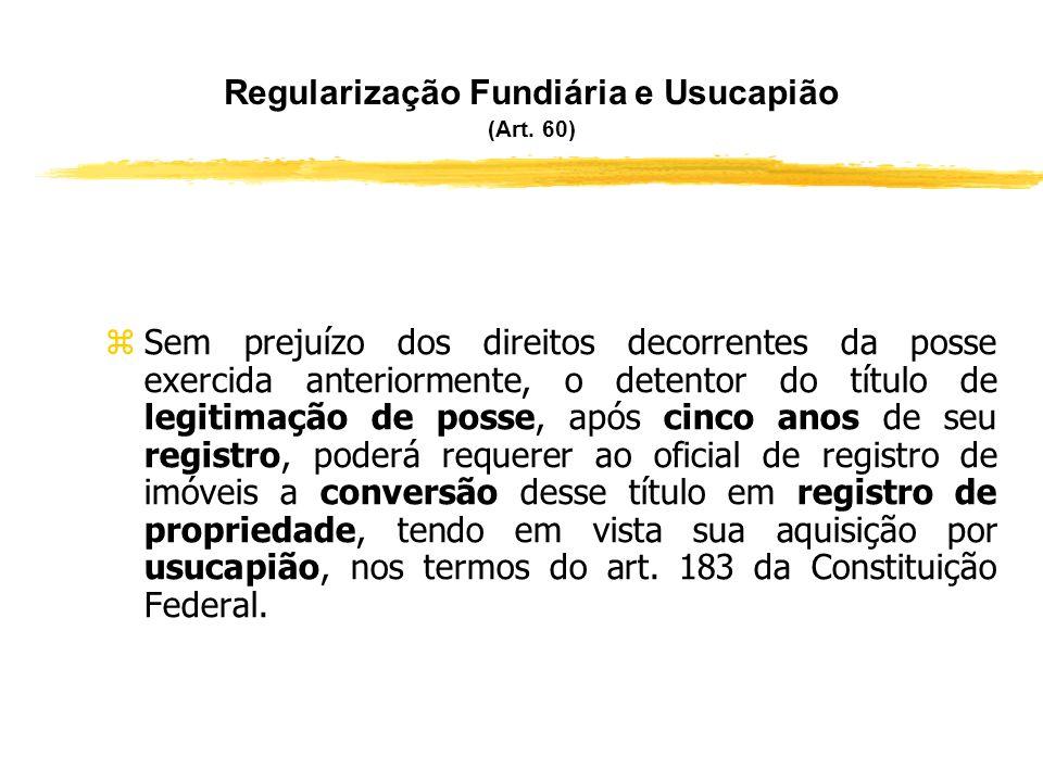 Modelo de Registro de Legitimação de Posse (Art. 59) zRR..../........, em.../.../....... zTÍTULO – LEGITIMAÇÃO DE POSSE. zNos termos do instrumento pa