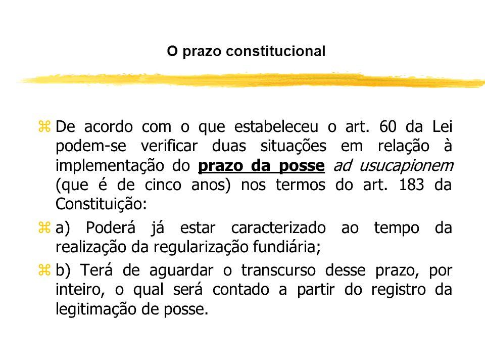 Usucapião Extrajudicial zO instituto contemplado no art. 60 significa a introdução da USUCAPIÃO EXTRAJUDICIAL no país, a qual se processa perante o Of
