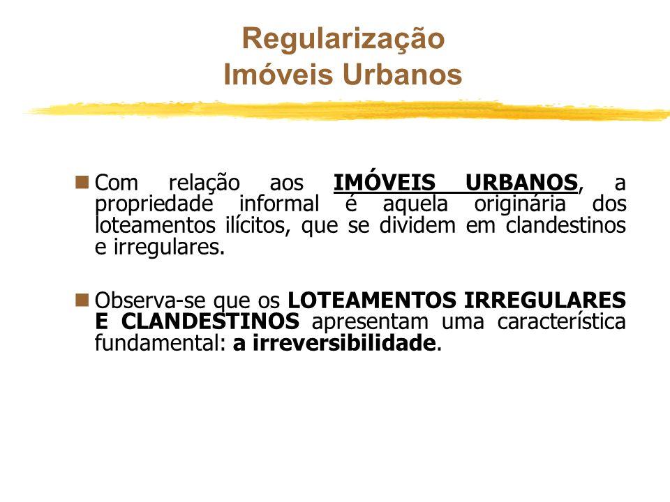 Regularização Portanto, ficaram tolhidos direitos inerentes à propriedade, a exemplo do direito de onerar a coisa com uma hipoteca com o propósito de