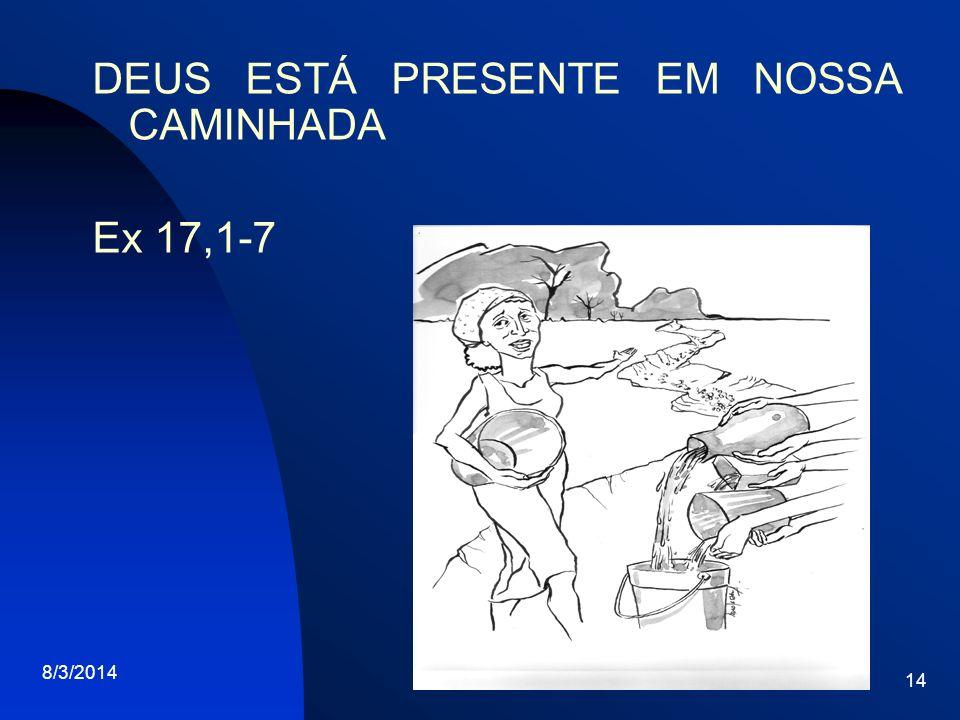 8/3/2014 14 DEUS ESTÁ PRESENTE EM NOSSA CAMINHADA Ex 17,1-7
