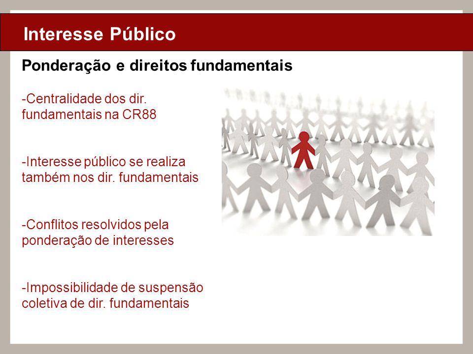 Ciclo de Aulas Internas - 2010 Texto Interesse Público -Centralidade dos dir. fundamentais na CR88 -Interesse público se realiza também nos dir. funda