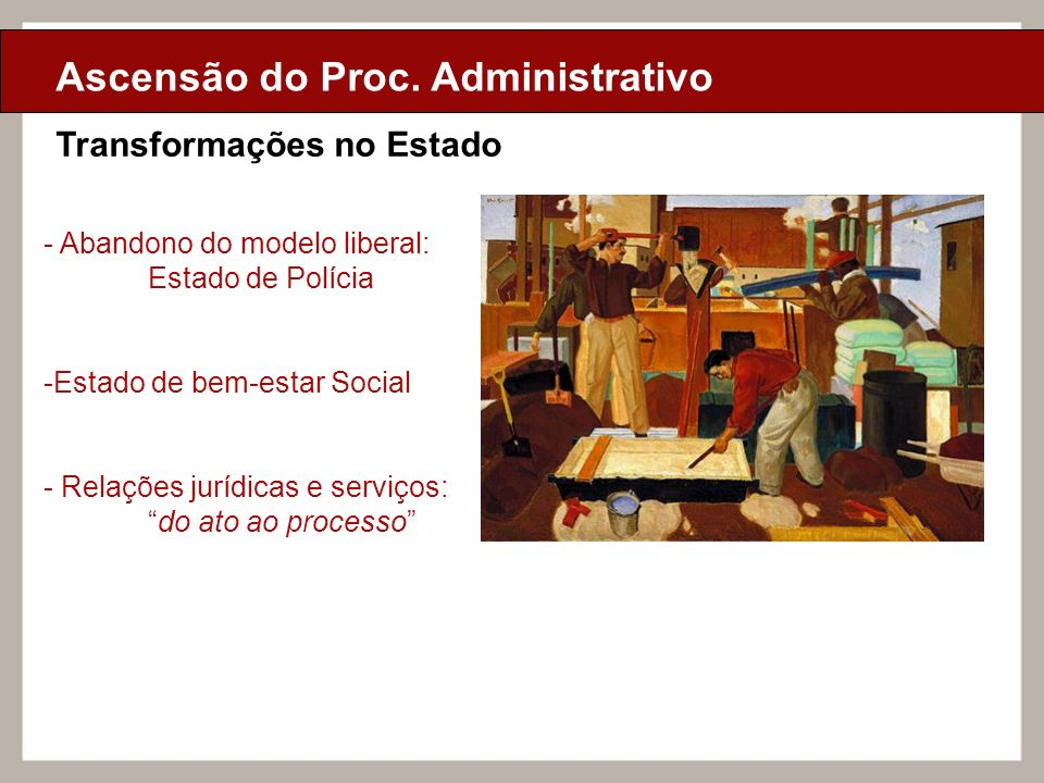 Ciclo de Aulas Internas - 2010 Texto Ciclo de Aulas Internas - 2010 Texto Transformações no Estado Ascensão do Proc. Administrativo - Abandono do mode