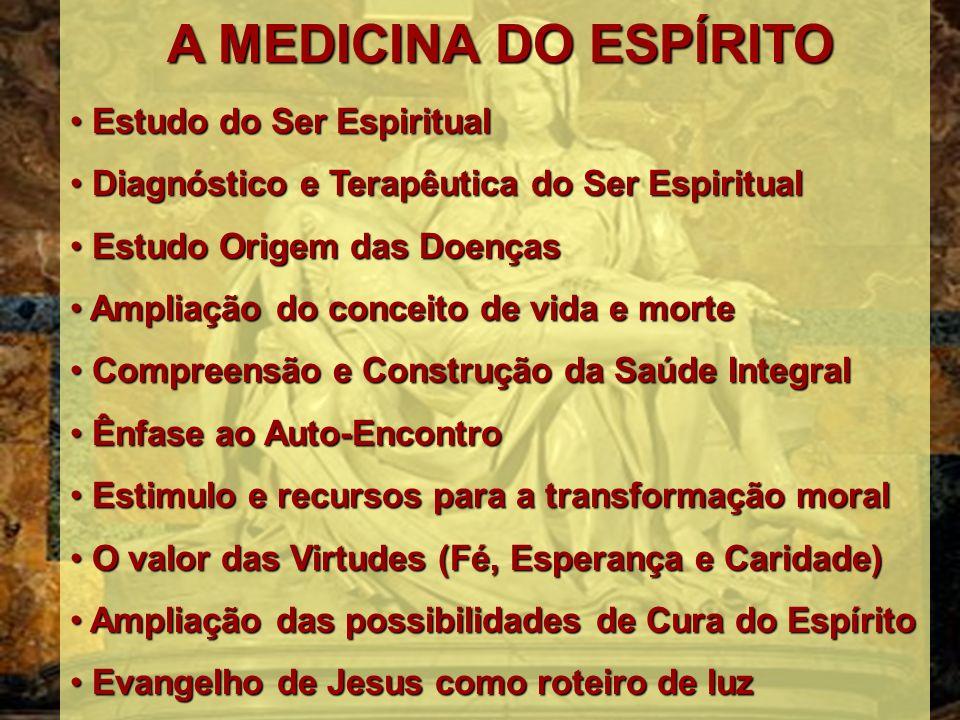 O médico do porvir conhecerá semelhantes verdades, dirigindo-se, muito mais, nos trabalhos curativos, às providências espirituais, onde o amor cristão represente o maior papel Missionários da Luz – André Luiz