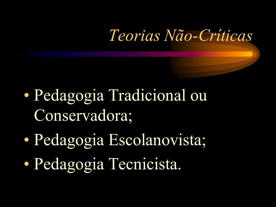 Pedagogia Tecnicista O professor é o técnico responsável pela eficiência do ensino, quem administra as condições de transmissão da matéria; O aluno é um ser fragmentado, espectador que está sendo preparado para aprender a fazer; Avaliação: ênfase na produtividade do aluno / ocorre ao final do processo com a finalidade de constatar se os alunos adquiriram os comportamentos desejados;