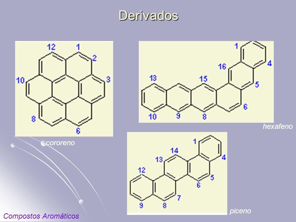 Derivados cororeno hexafeno piceno Compostos Aromáticos