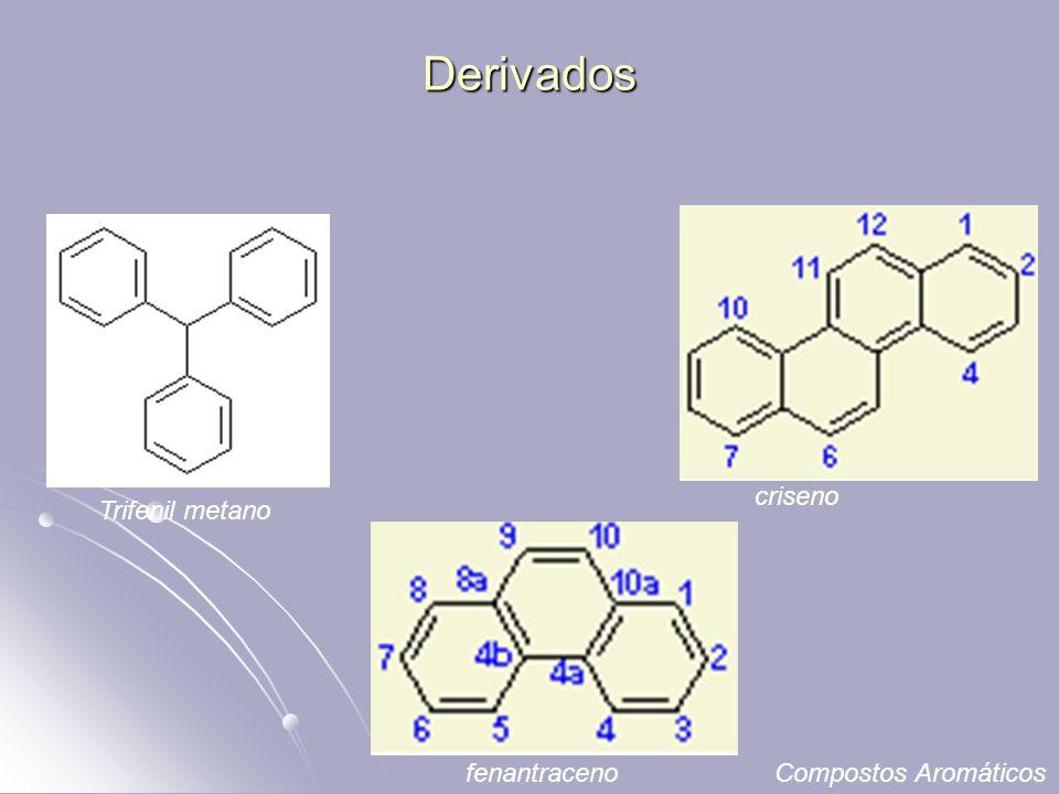 Derivados Trifenil metano criseno fenantracenoCompostos Aromáticos