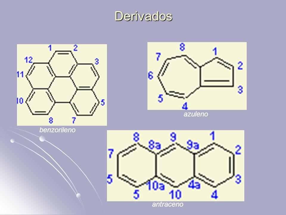 Derivados benzorileno azuleno antraceno
