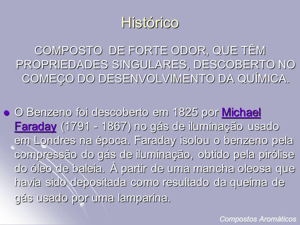 Histórico COMPOSTO DE FORTE ODOR, QUE TÊM PROPRIEDADES SINGULARES, DESCOBERTO NO COMEÇO DO DESENVOLVIMENTO DA QUÍMICA.